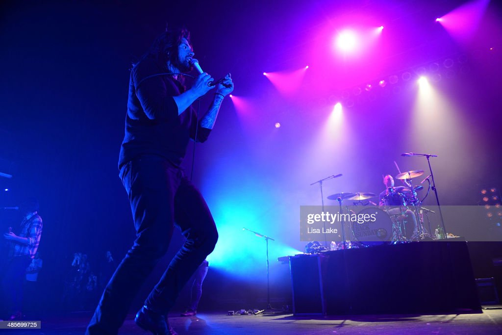 <a gi-track='captionPersonalityLinkClicked' href=/galleries/search?phrase=Adam+Lazzara&family=editorial&specificpeople=2152821 ng-click='$event.stopPropagation()'>Adam Lazzara</a> and Mark O'Connell of Taking Back Sunday perform at Sands Bethlehem Event Center on April 19, 2014 in Bethlehem, Pennsylvania.