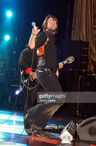 Adam Lazzara of Taking Back Sunday during Boost Mobile RockCorps Concert at NYC's Radio City Music Hall Inside September 23 2006 at Radio City in New...