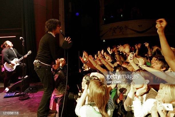 Adam Lazzara of Taking Back Sunday during Taking Back Sunday in Concert at the Shepherds Bush Empire in London January 28 2006 at Sherpherds Bush...