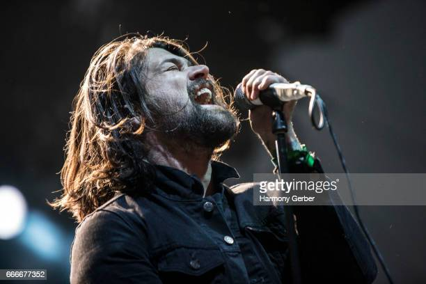Adam Lazzara of the band Taking Back Sunday performs during the When We Were Young Festival 2017 at The Observatory on April 8 2017 in Santa Ana...