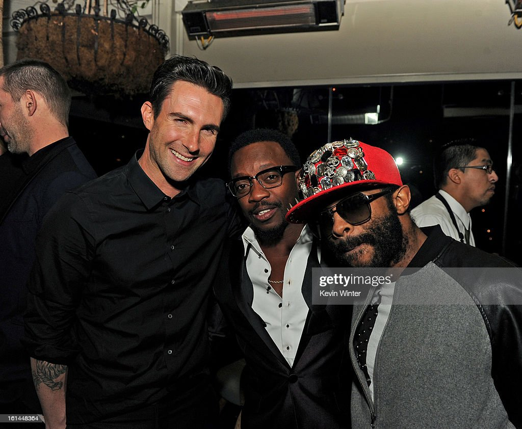 Adam Levin, Anthony Hamilton and E.D. Kane attend the Maroon 5 Grammy After Party & Adam Levine Fragrance Launch Event on February 10, 2013 in West Hollywood, California.