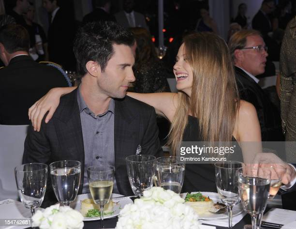 Adam Levine and Behati Prinsloo attend the 2012 GQ Gentlemen's Ball presented by LG Movado and Nautica on October 24 2012 in New York City