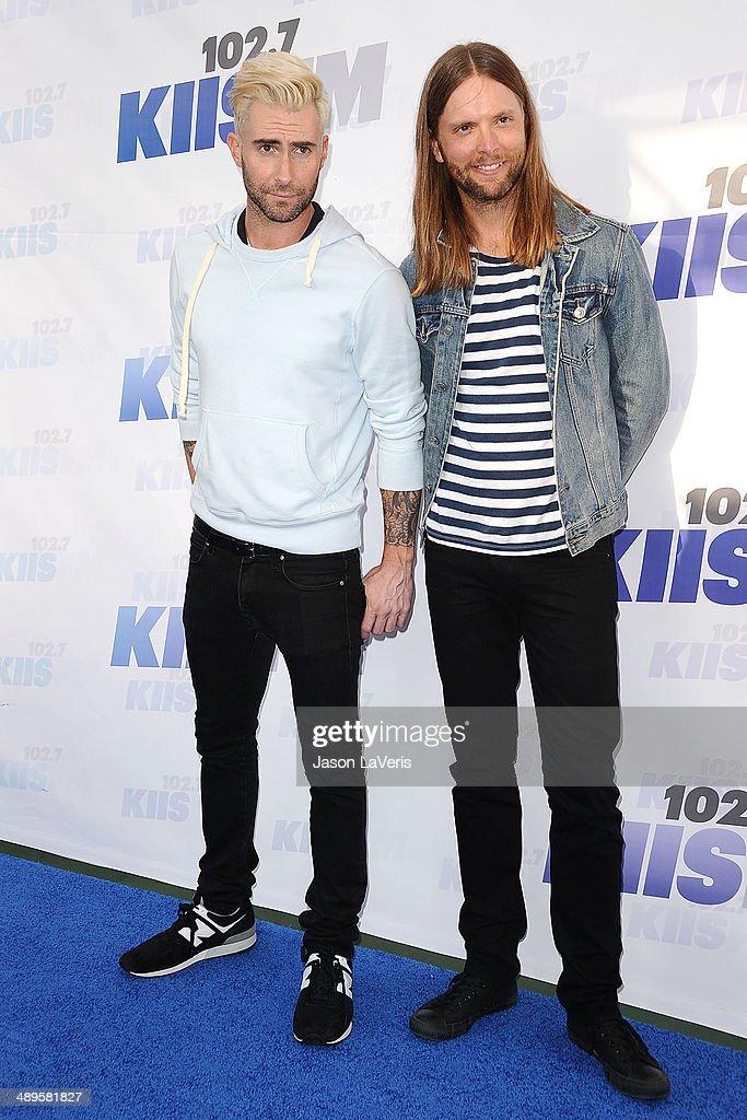 Adam Levine and James Valentine of Maroon 5 attend 102.7 KIIS FM's 2014 Wango Tango at StubHub Center on May 10, 2014 in Los Angeles, California.