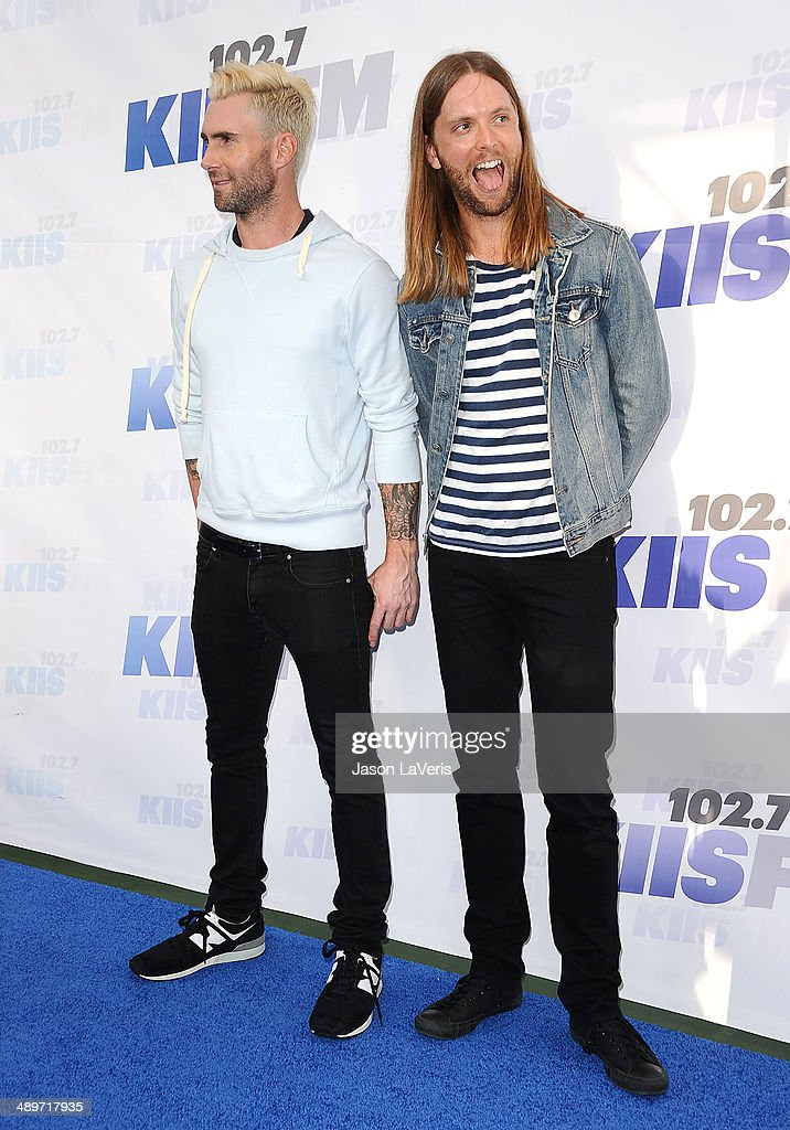 Adam Levine and James Valentine of Maroon 5 attend 102.7 KIIS FM's 2014 Wango Tango at StubHub Center on May 10, 2014 in Los Angeles, California.