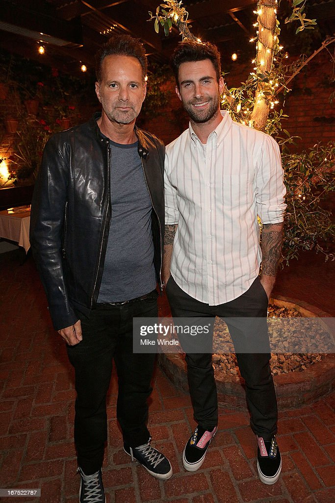 <a gi-track='captionPersonalityLinkClicked' href=/galleries/search?phrase=Adam+Levine+-+Singer&family=editorial&specificpeople=202962 ng-click='$event.stopPropagation()'>Adam Levine</a> (R) and NYLON Editor in Chief, <a gi-track='captionPersonalityLinkClicked' href=/galleries/search?phrase=Marvin+Scott+Jarrett&family=editorial&specificpeople=859907 ng-click='$event.stopPropagation()'>Marvin Scott Jarrett</a> attend NYLON Guys and ASOS celebrate April/May cover star <a gi-track='captionPersonalityLinkClicked' href=/galleries/search?phrase=Adam+Levine+-+Singer&family=editorial&specificpeople=202962 ng-click='$event.stopPropagation()'>Adam Levine</a> at Dominick's Restaurant on April 25, 2013 in Los Angeles, California.