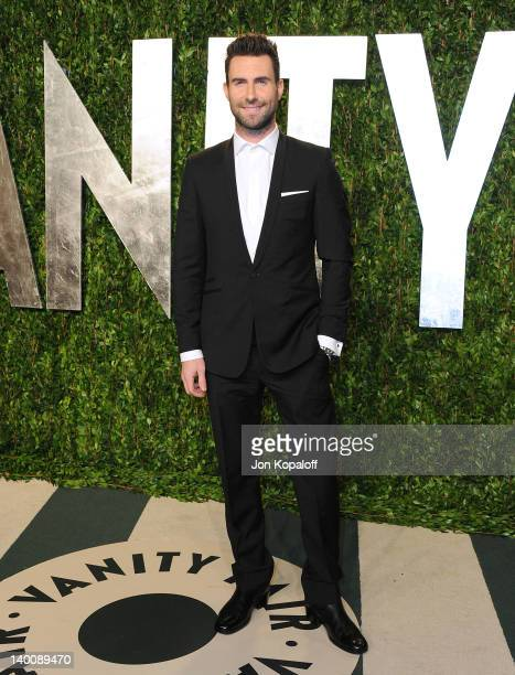 Adam Levine attends the 2012 Vanity Fair Oscar Party at Sunset Tower on February 26 2012 in West Hollywood California