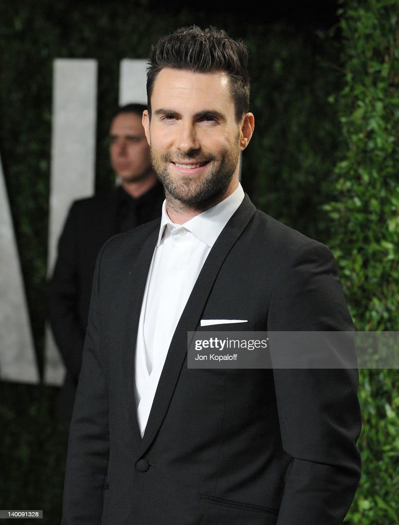 <a gi-track='captionPersonalityLinkClicked' href=/galleries/search?phrase=Adam+Levine+-+Cantor&family=editorial&specificpeople=202962 ng-click='$event.stopPropagation()'>Adam Levine</a> attends the 2012 Vanity Fair Oscar Party at Sunset Tower on February 26, 2012 in West Hollywood, California.