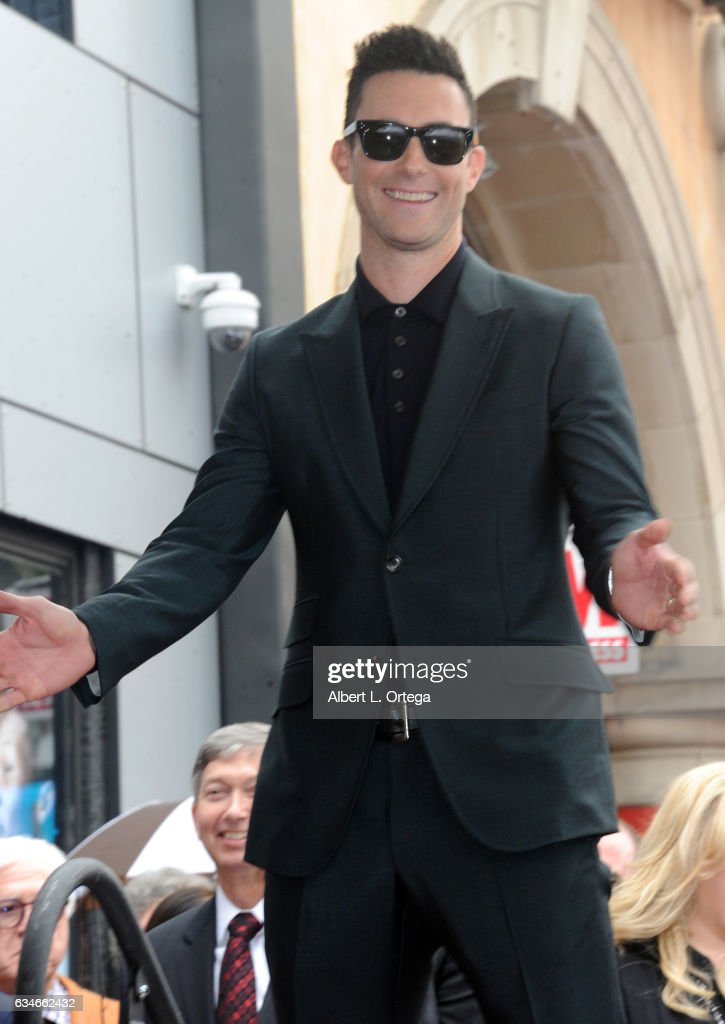 Adam Levine Honored With Star On The Hollywood Walk Of Fame on February 10, 2017 in Hollywood, California.