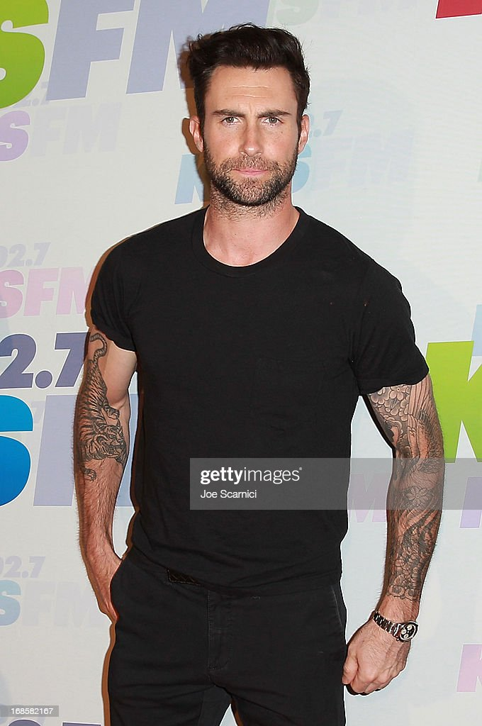 <a gi-track='captionPersonalityLinkClicked' href=/galleries/search?phrase=Adam+Levine+-+Singer&family=editorial&specificpeople=202962 ng-click='$event.stopPropagation()'>Adam Levine</a> of Maroon 5 arrives at 102.7 KIIS FM's Wango Tango 2013 at The Home Depot Center on May 11, 2013 in Carson, California.