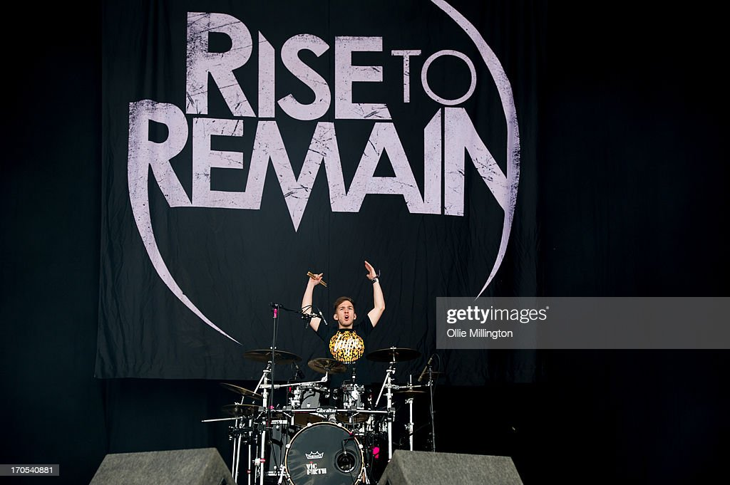 Adam Lewin of Rise To Remain performs at Day 1 of The Download Festival at Donnington Park on June 14, 2013 in Donnington, England.