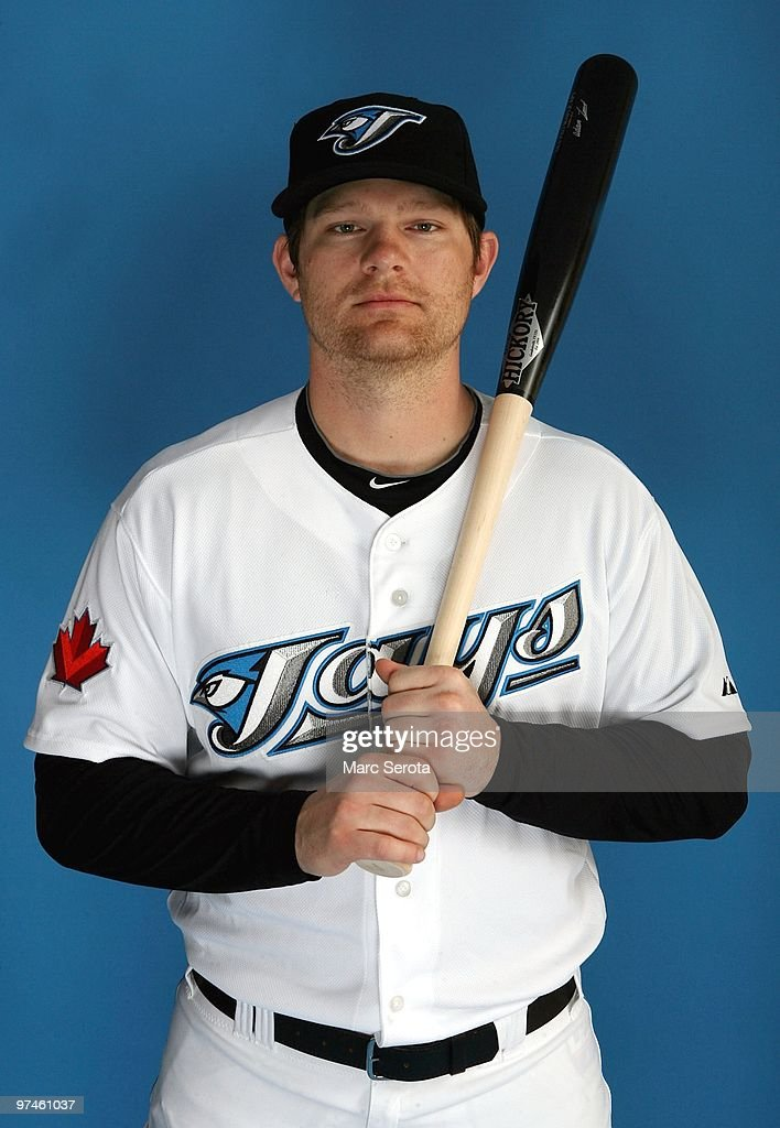 <a gi-track='captionPersonalityLinkClicked' href=/galleries/search?phrase=Adam+Lind&family=editorial&specificpeople=3911783 ng-click='$event.stopPropagation()'>Adam Lind</a> #26 of the Toronto Blue Jays poses for photos during media day on March 1, 2010 in Dunedin, Florida.