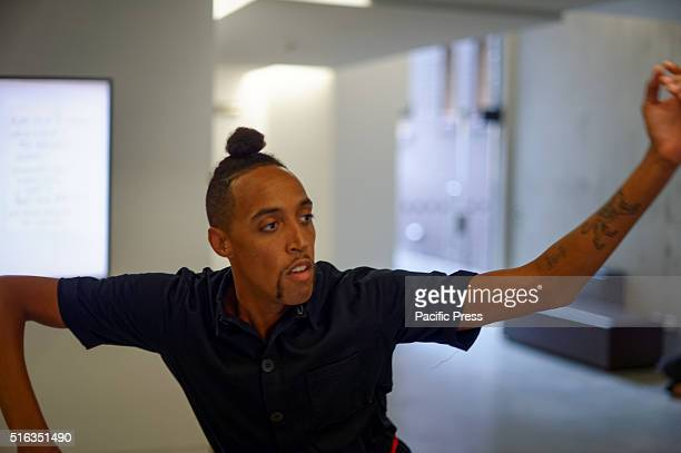 ISLAND SYDNEY NSW AUSTRALIA Adam Linder performance at the Museum of Contemporary Art Australia Embassy of Translation during the media preview for...