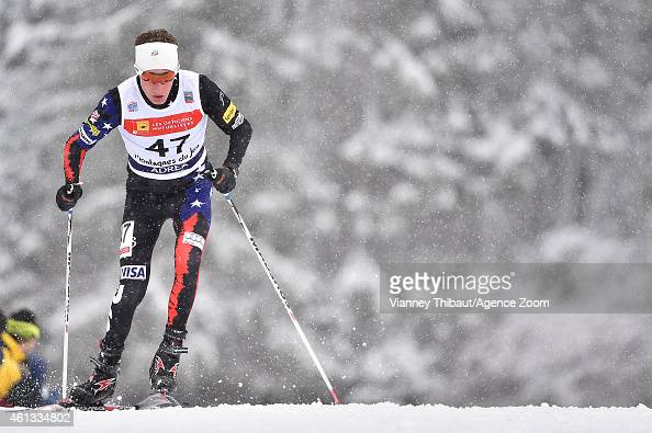 Adam Loomis of USA competes during the FIS Nordic Combined World Cup Team Sprint on January 11 2015 in ChauxNeuve France
