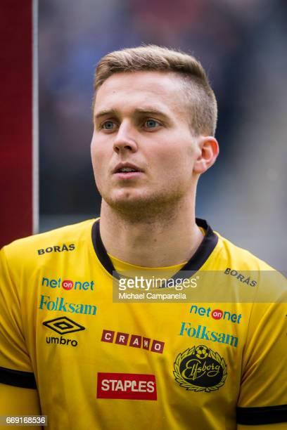 Adam Lundqvist of IF Elfsborg during an Allsvenskan match between Djurgardens IF and IF Elfsborg at Tele2 Arena on April 16 2017 in Stockholm Sweden