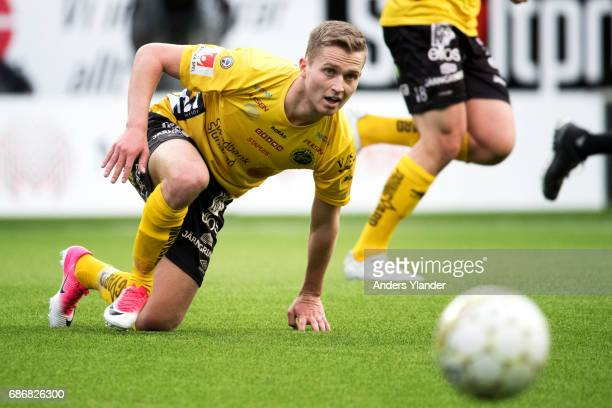 Adam Lundqvist of IF Elfsborg in action during the Allsvenskan match between IF Elfsborg and Jonkopings Sodra IF at Boras Arena on May 22 2017 in...