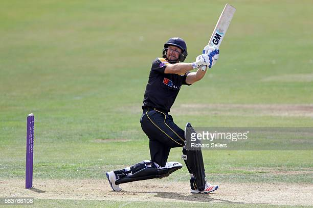 Adam Lyth in batting action for Yorkshire during the Royal London OneDay Cup between Yorkshire Vikings and Nottingham Outlaws at North Marine Road on...