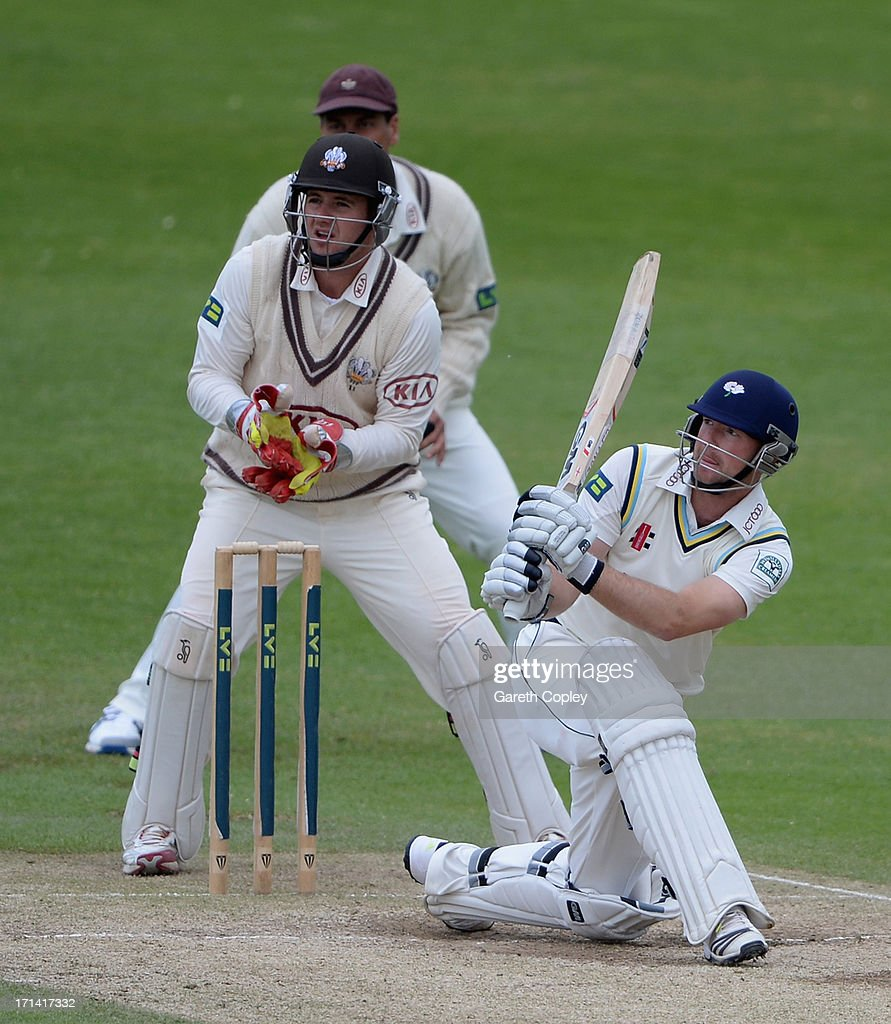 Adam Lyth of Yorkshire bats during day four of the LV County Championship Division One match between Yorkshire and Surrey at Headingley on June 24, 2013 in Leeds, England.