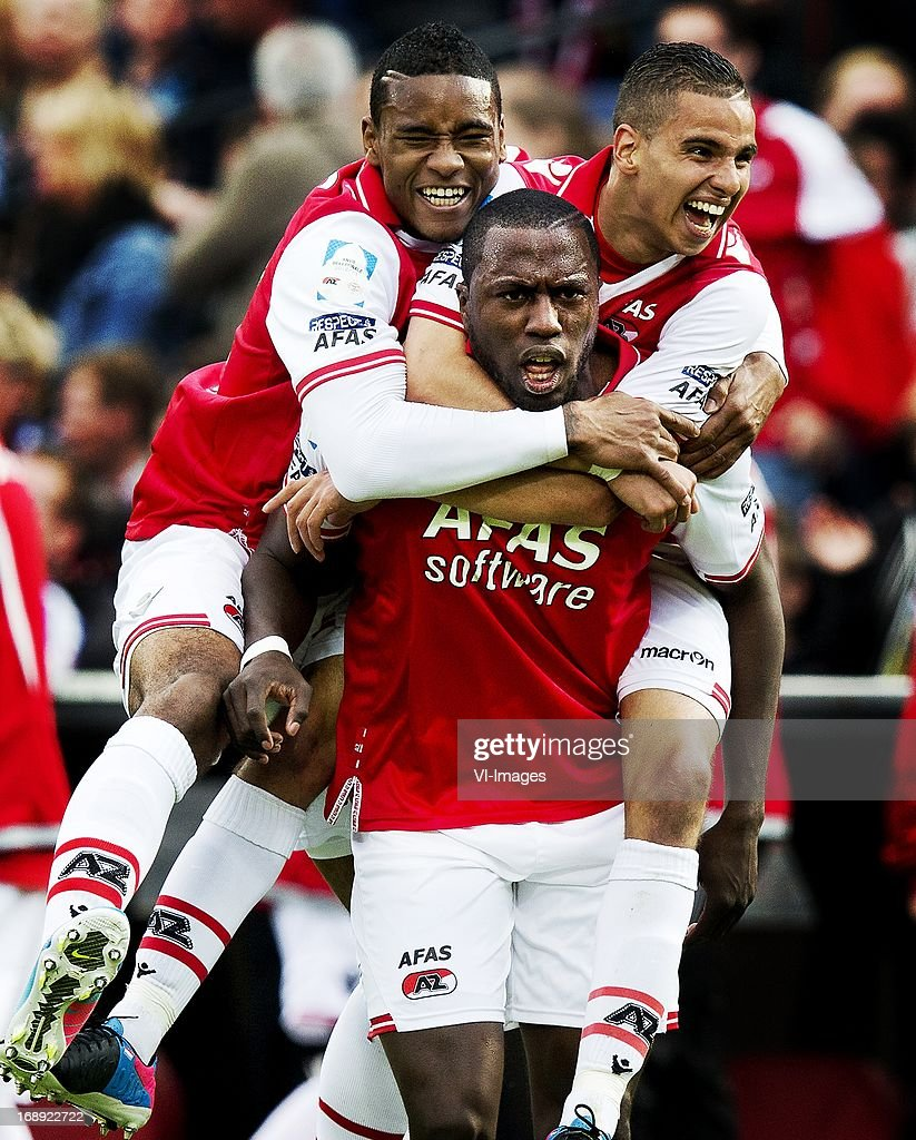 Adam Maher, Giliano Wijnaldum, Jozy altidore, Adam Maher of AZ during the Dutch Cup final match between AZ Alkmaar and PSV Eindhoven on May 9, 2013 at the Kuip stadium in Rotterdam, The Netherlands.