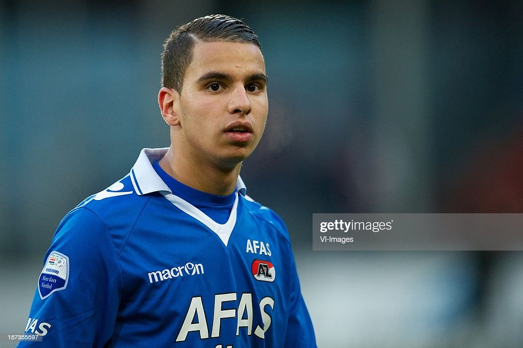 Adam Maher of AZ during the Dutch Eredivisie match between FC Utrecht and AZ Alkmaar at the Galgenwaard Stadium on December 02, 2012 in Utrecht, The Netherlands.