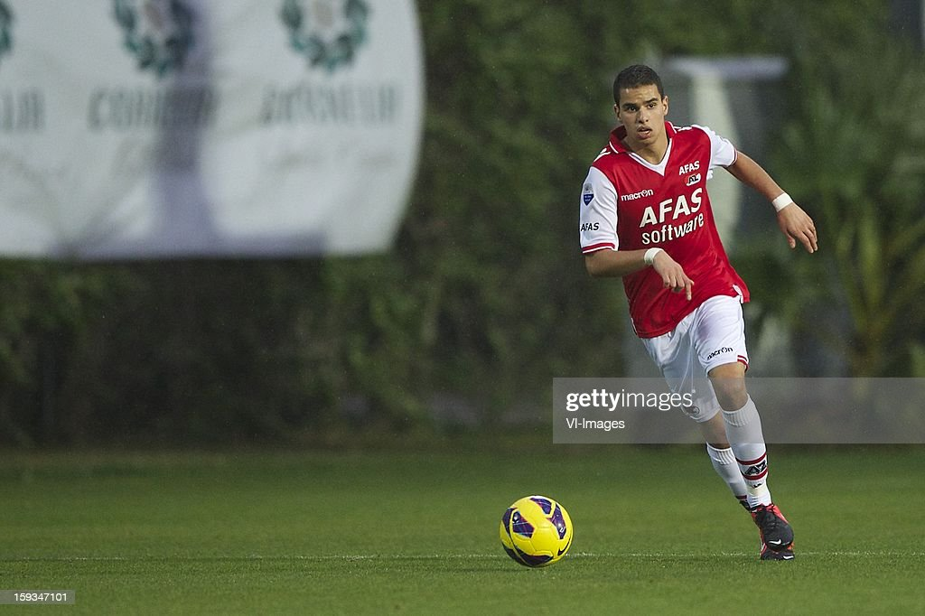Adam Maher of AZ during the friendly match between AZ Alkmaar and Genclerbirligi on January 12, 2013 at Belek, Turkey