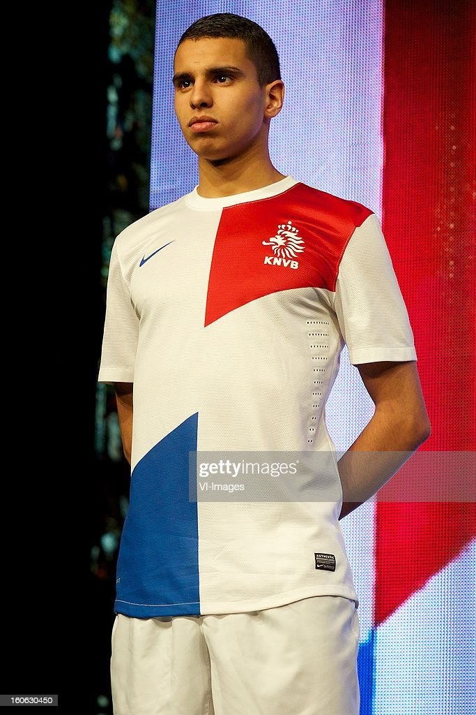 Adam Maher of AZ during the presentation of the new Netherlands National team kit on February 4, 2013 at Amsterdam, Netherlands.