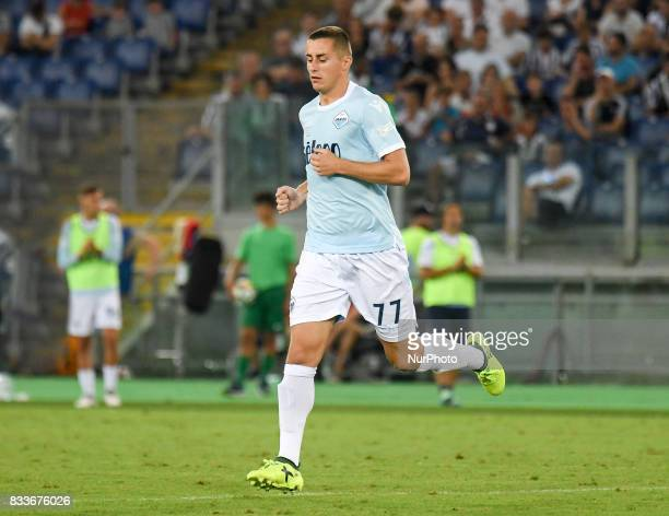 Adam Marusic during the Italian SuperCup TIM football match Juventus vs lazio on August 13 2017 at the Olympic stadium in Rome