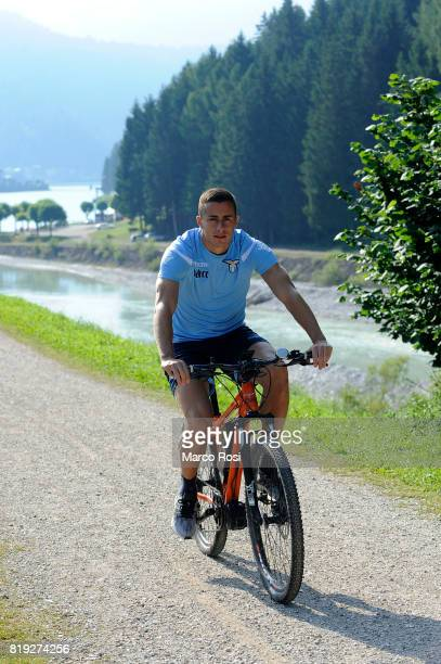 Adam Marusic of SS Lazio by bike in the circuit of the UCI 2018 MTB Marathon World Championship before the SS Lazio PreSeason Training Camp on July...