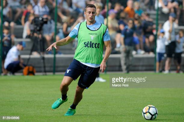 Adam Marusic of SS Lazio during the SS Lazio PreSeason Training Camp Day 4 on July 13 2017 in Pieve di Cadore Italy