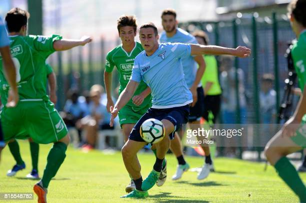 Adam Marusic of SS lazio in action during the PreSeason Friendly match between SS Lazio and Reappresentativa Cadore on July 16 2017 in Pieve di...