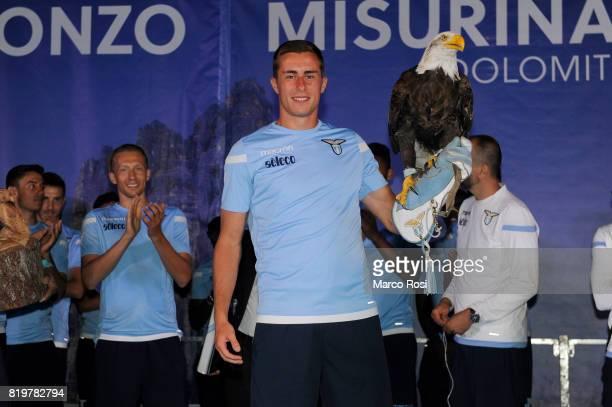 Adam Marusic of SS Lazioduring the SS Lazio Team Presentation on July 20 2017 in Pieve di Cadore Italy