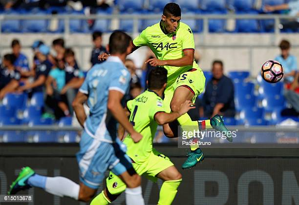 Adam Masina of Bologna FC in action during the Serie A match between SS Lazio and Bologna FC at Stadio Olimpico on October 16 2016 in Rome Italy