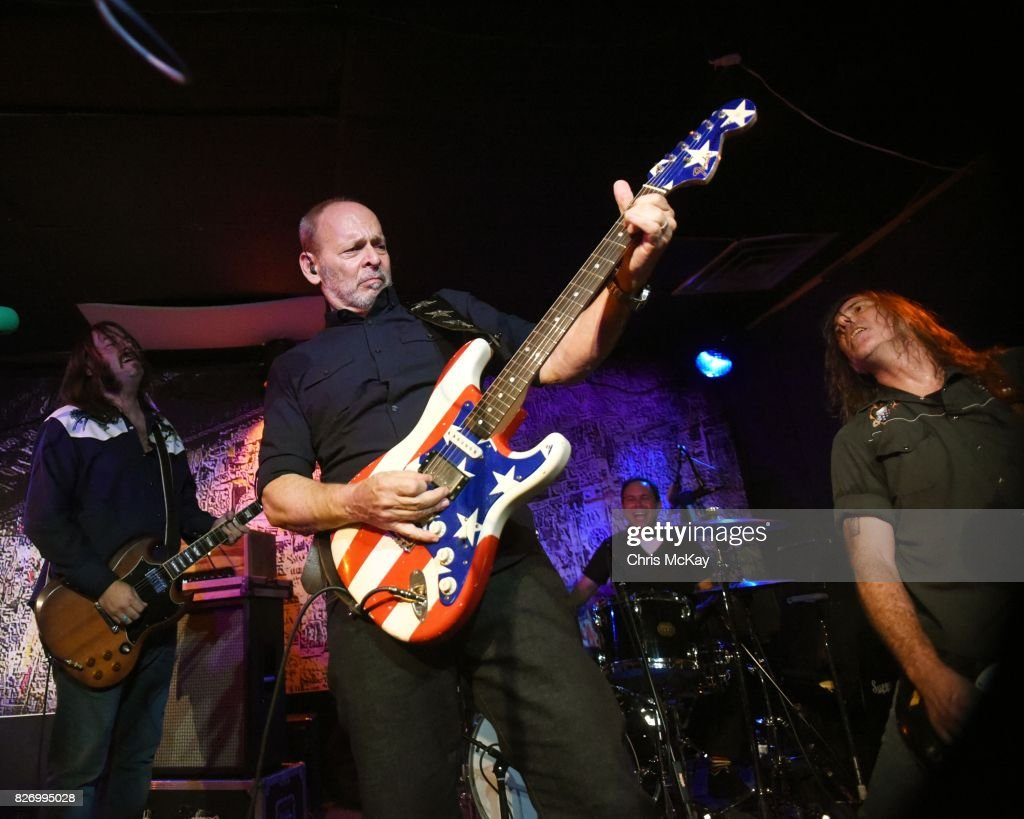 Adam McIntyre, Wayne Kramer, Adam Renshaw, and Shannon Mulvaney perform during the Artist2Artist Benefit For Homeless Veterans at The Office on August 5, 2017 in Athens, Georgia.