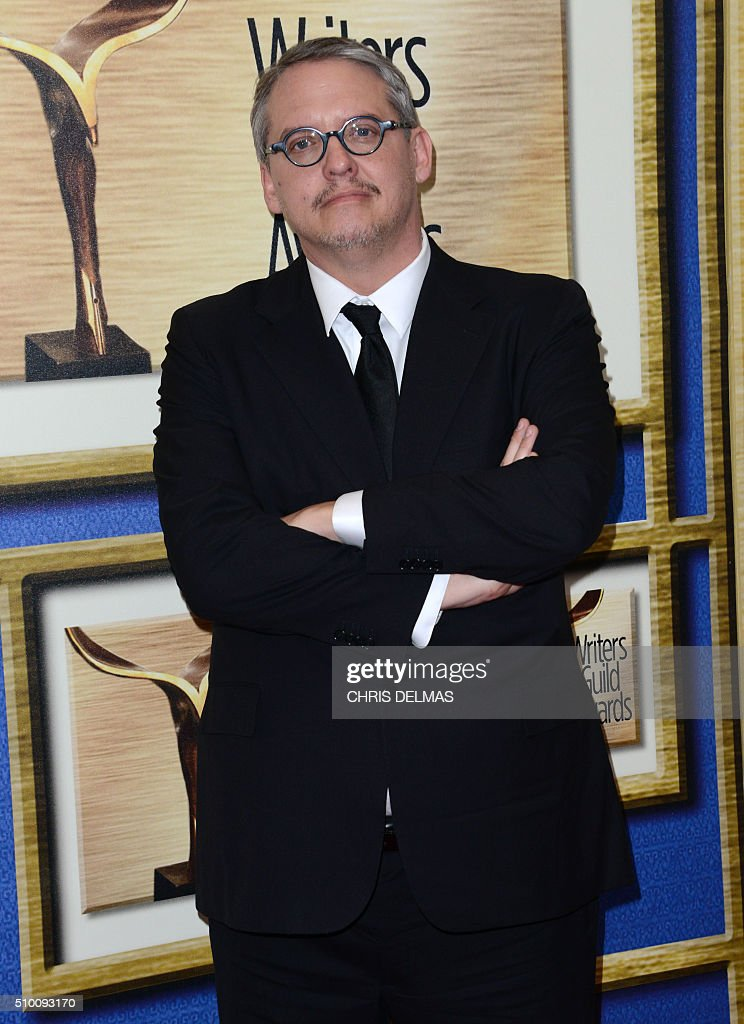 Adam McKay arrives for the Writers Guild Awards in Century City, California, February 13, 2016. / AFP / CHRIS DELMAS