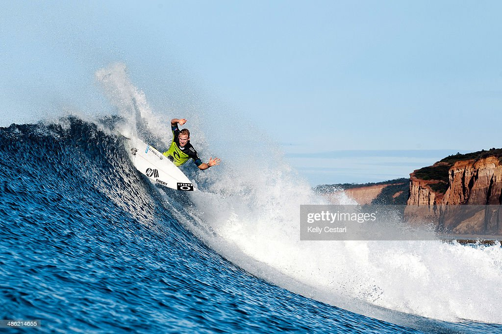 Adam Melling of Australia placed equal 9th in the Ripcurl Pro Bells Beach after placing second in his quarterfinal heat on April 23, 2014 in Bells Beach, Australia.