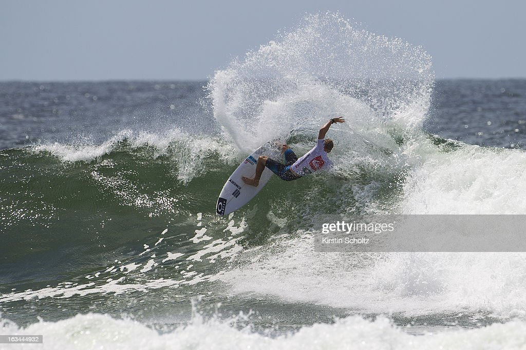 Adam Melling of Australia surfs during round two during the Quiksilver Pro on March 10, 2013 in Gold Coast, Australia.
