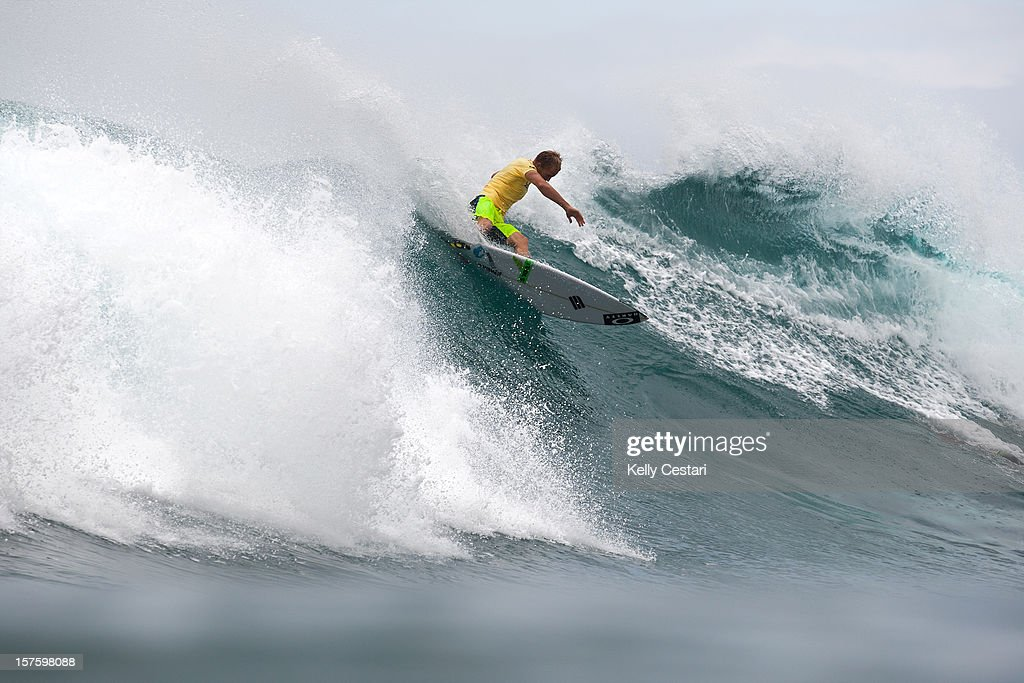 Adam Melling of Australia surfs the final of the Vans World Cup of Surfing at Sunset Beach on December 4, 2012 in North Shore, Hawaii. Melling placed first and requalifed for the ASP World Tour.