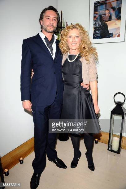 Adam Mikieljohn and Kelly Hoppen attends the press launch for 'Promise' a new capsule ring collection created by Cheryl Cole and de Grisogono at Nobu...