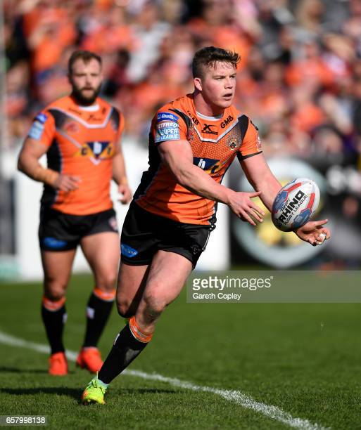 Adam Milner of Castleford during the Betfred Super League match between Castleford Tigers and Catalans Dragons at Wheldon Road on March 26 2017 in...