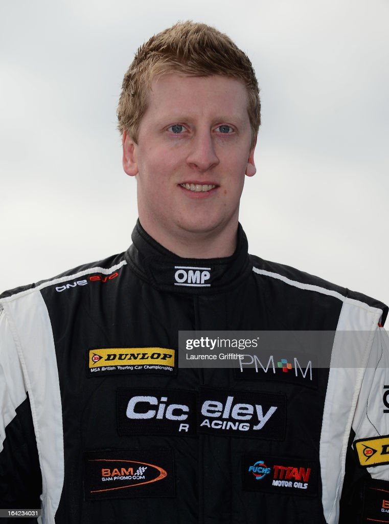 <a gi-track='captionPersonalityLinkClicked' href=/galleries/search?phrase=Adam+Morgan&family=editorial&specificpeople=178921 ng-click='$event.stopPropagation()'>Adam Morgan</a> of Ciceley Racing poses for a portrait during the BTCC Media Day at Donington Park on March 21, 2013 in Castle Donington, England.
