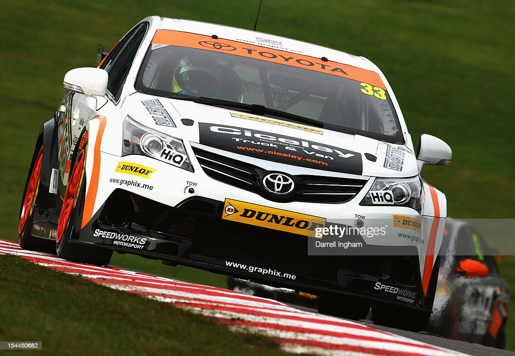 Adam Morgan of Great Britain drives the #33Speedworks Motorsport Vauxhall Vectra during practice for the Dunlop MSA British Touring Car Championship race at the Brands Hatch Circuit on October 20, 2012 near Longfield, United Kingdom.