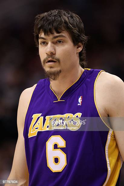 Adam Morrison of the Los Angeles Lakers in action during the NBA game against the Phoenix Suns at US Airways Center on March 12 2010 in Phoenix...