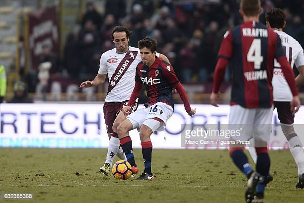 Adam Nagy of Bologna FC in action during the Serie A match between Bologna FC and FC Torino at Stadio Renato Dall'Ara on January 22 2017 in Bologna...