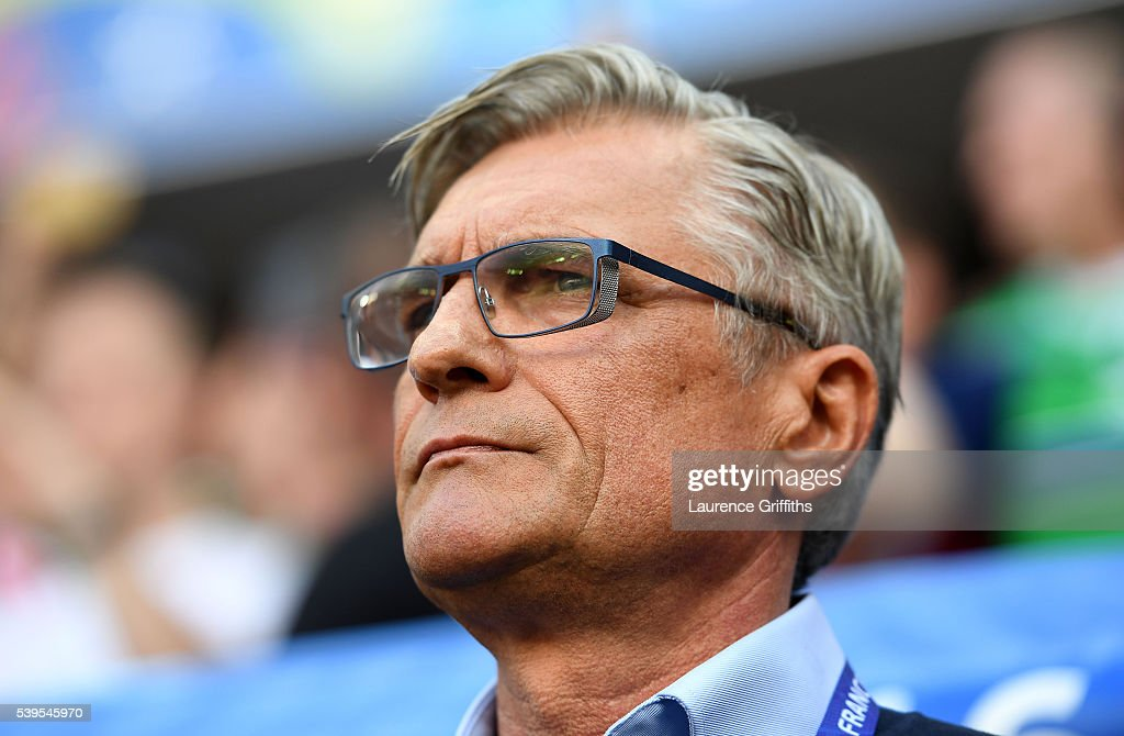 Adam Nawalka head coach of Poland looks on prior to the UEFA EURO 2016 Group C match between Poland and Northern Ireland at Allianz Riviera Stadium on June 12, 2016 in Nice, France.