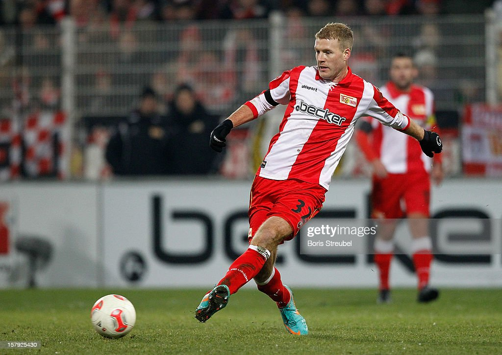 Adam Nemec of Berlin runs with the ball during the Second Bundesliga match between 1. FC Union Berlin and 1. FC Kaiserslautern at Stadion An der Alten Foersterei on December 7, 2012 in Berlin, Germany.