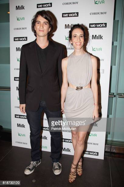 Adam Neumann and Rebekah Paltrow attend WE WORK and CORDUROY Launch Party at Milk Studios on June 10 2010 in New York City