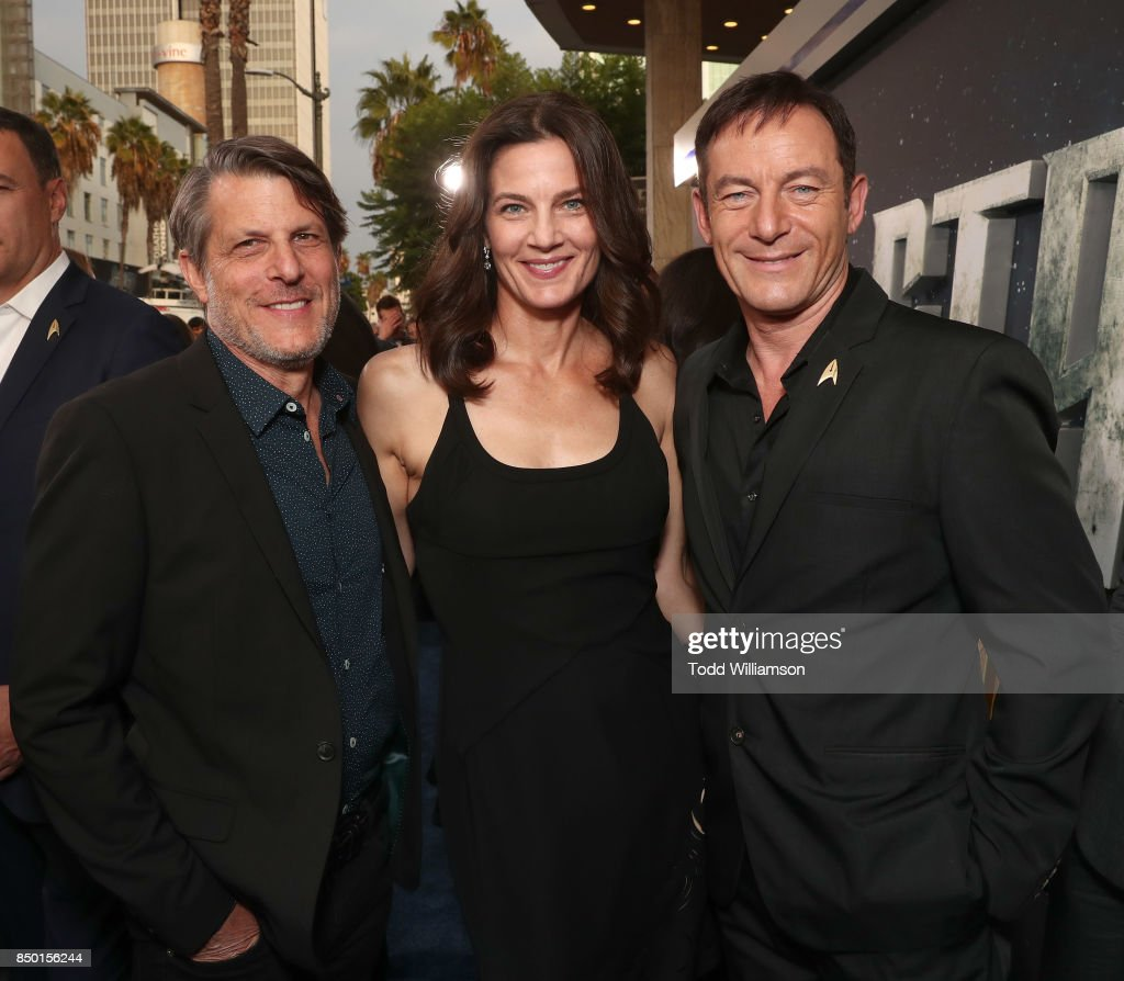Adam Nimoy, Terry Farrell and Jason Isaacs attend the premiere of CBS's 'Star Trek: Discovery' at The Cinerama Dome on September 19, 2017 in Los Angeles, California.