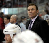 Adam Oates of the Washington Capitals against the Carolina Hurricanes during their game at PNC Arena on December 20 2013 in Raleigh North Carolina...