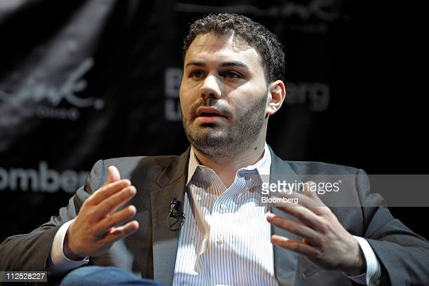 M Adam Oliveri managing director of private company market for SecondMarket Inc speaks at Bloomberg Link Empowered Entrepreneur Summit in New York US...