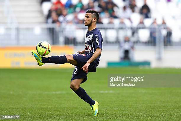 Adam Ounas of Bordeaux during the French Ligue 1 match between FC Girondins de Bordeaux v SC Bastia at Nouveau Stade de Bordeaux on March 20 2016 in...
