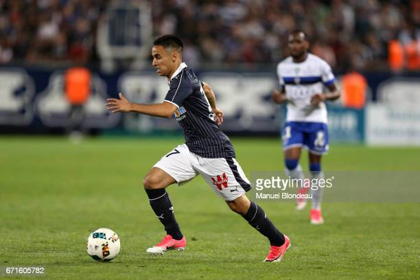 Adam Ounas of Bordeaux during the Ligue 1 match between at Nouveau Stade de Bordeaux on April 22 2017 in Bordeaux France